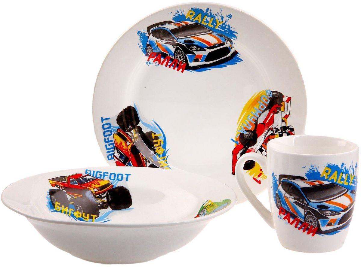 Кубаньфарфор Набор посуды для кормления Гонки -  Все для детского кормления