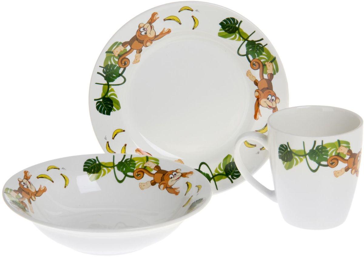 Кубаньфарфор Набор посуды для кормления Обезьянки 3 предмета