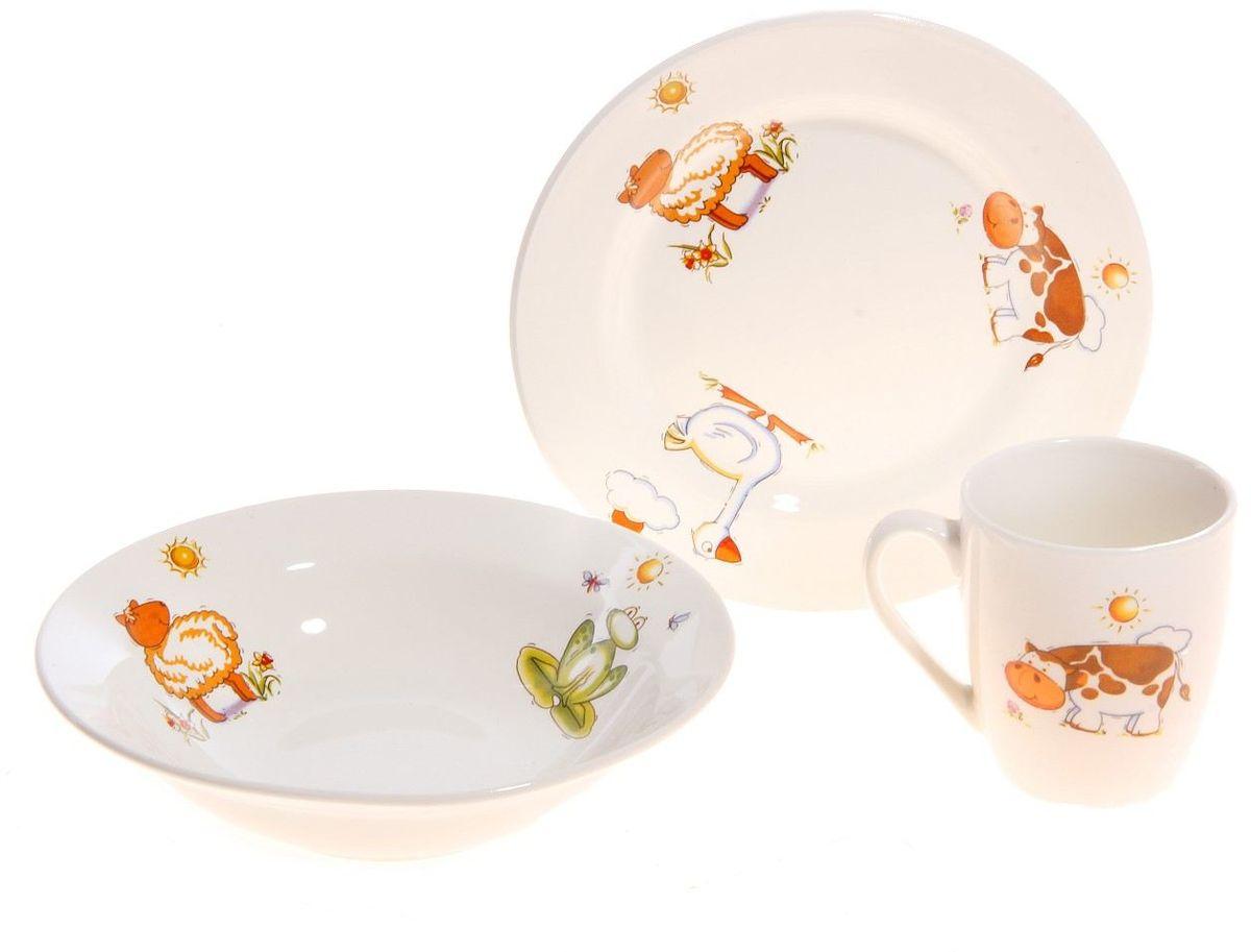 Кубаньфарфор Набор посуды для кормления Зоопарк 3 предмета