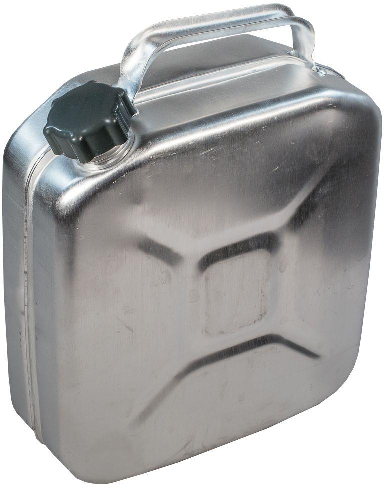 Канистра для ГСМ Scovo, цвет: серый металлик, 10 л канистра пластиковая phantom для гсм 5 л