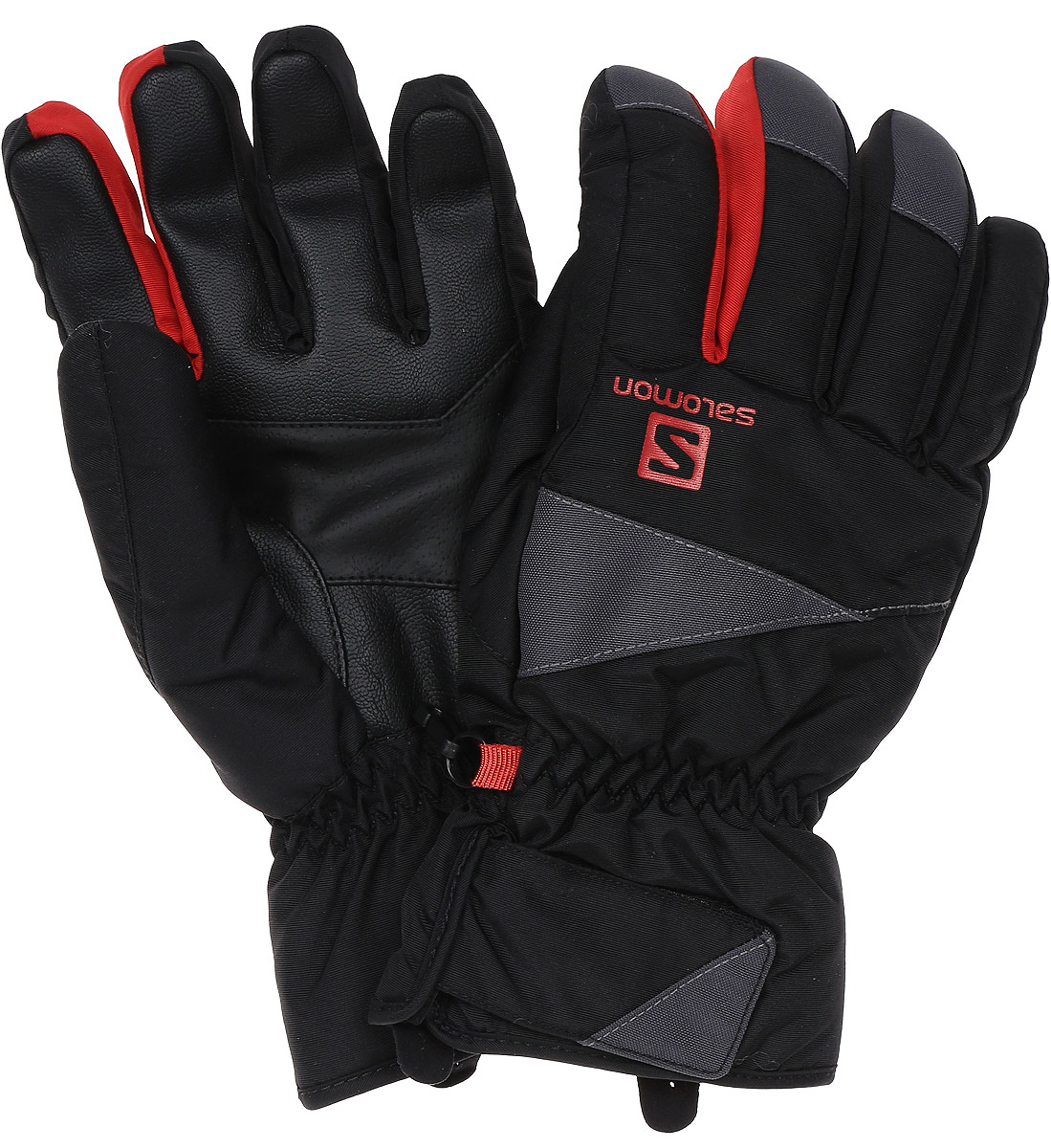 Перчатки мужские Salomon Gloves Force M, цвет: черный, серый. L39500200. Размер XL (9,5)L39500200Мужские перчатки Gloves Force обеспечивают тепло, комфорт и стильный вид по доступной цене. Укороченные манжеты отлично согревают запястья.