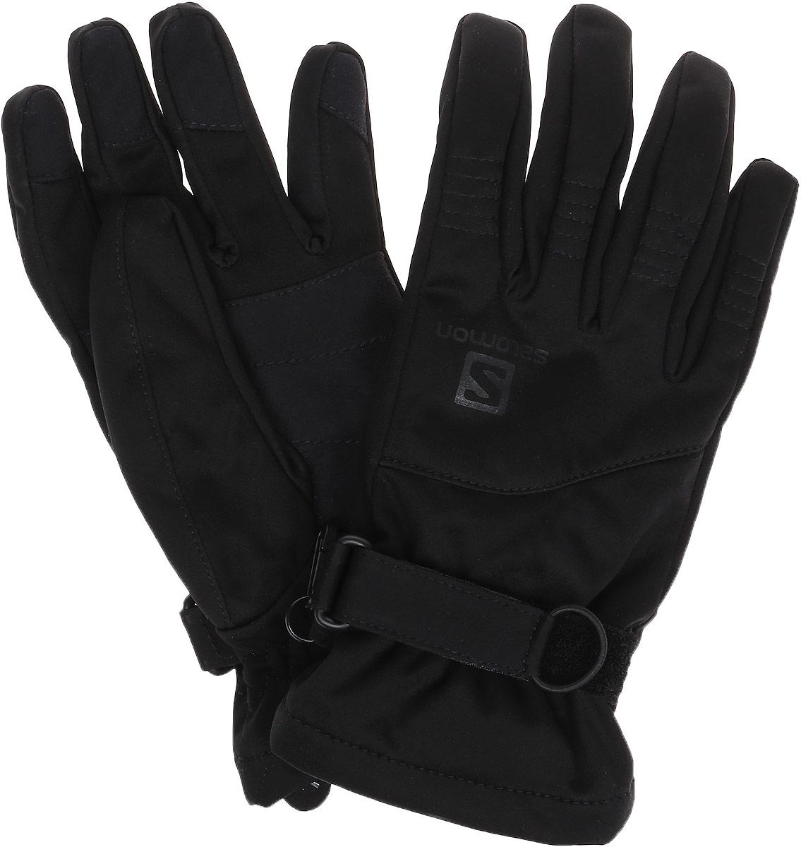 Перчатки Salomon Gloves Hybrid U, цвет: черный. L37564900. Размер XL (9,5)L37564900HYBRID GLOVE — сильно утепленные перчатки для туристических походов, занятий спортом с умеренной нагрузкой, а также для повседневной носки зимой.