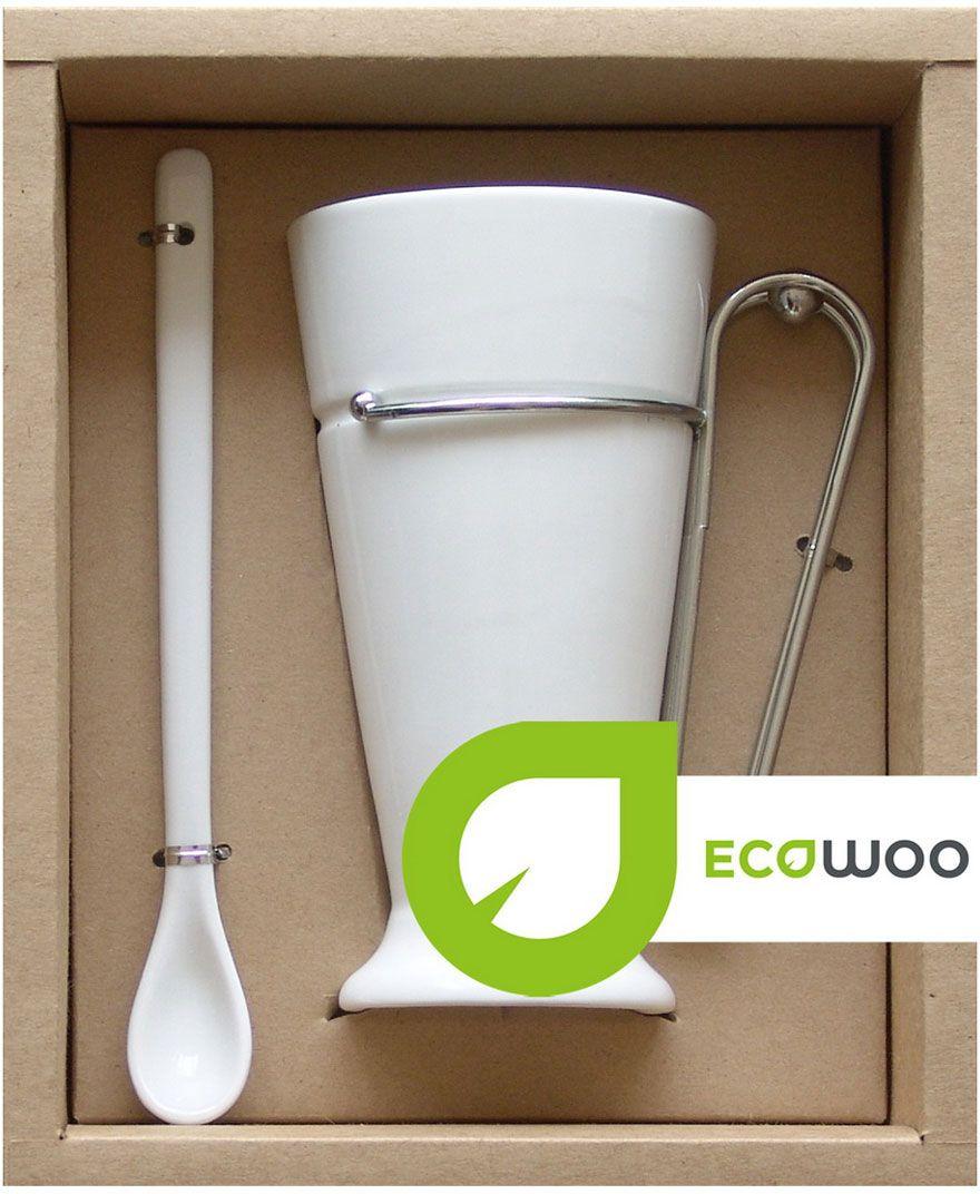 Набор для кофе EcoWoo, 2 предмета. 2012228U2012228UНабор EcoWoo - это не только идеальный подарок, но и прекрасный повод побаловать себя. В данный набор входят 2 предмета: кружка и ложка, выполненные из высококачественного фарфора и нержавеющей стали.Набор прекрасен для всевозможных напитков: кофе, свежевыжатого сока, чая. Классический цвет и форма идеально впишется в любой интерьер кухни, но особенно оценят любители современного стиля.Объем кружки: 350 мл.Длина ложки: 18,5 см.