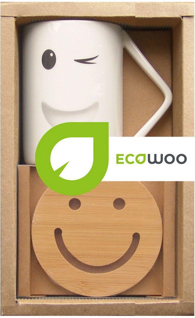 Набор чайный 2 предмета EcoWoo, 2 предмета. 2012232U набор коробов для хранения ecowoo boy and girl 2 шт