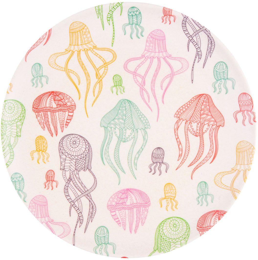 Тарелка обеденная EcoWoo Фиш & Фан эллифиш, диаметр 25 см