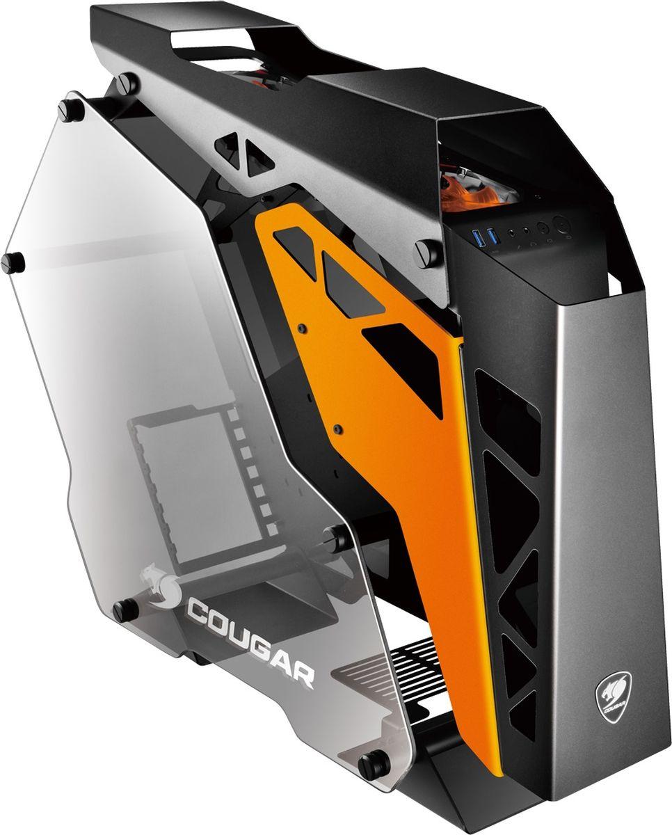 Cougar Conquer компьютерный корпусCUCПоддержка до 5ти кулеров«Умная» система кабель менеджментаПоддержка полноразмерных графических картБесконечная свобода возможностей по сборке.3 встроенных кулераРама из сплава алюминия