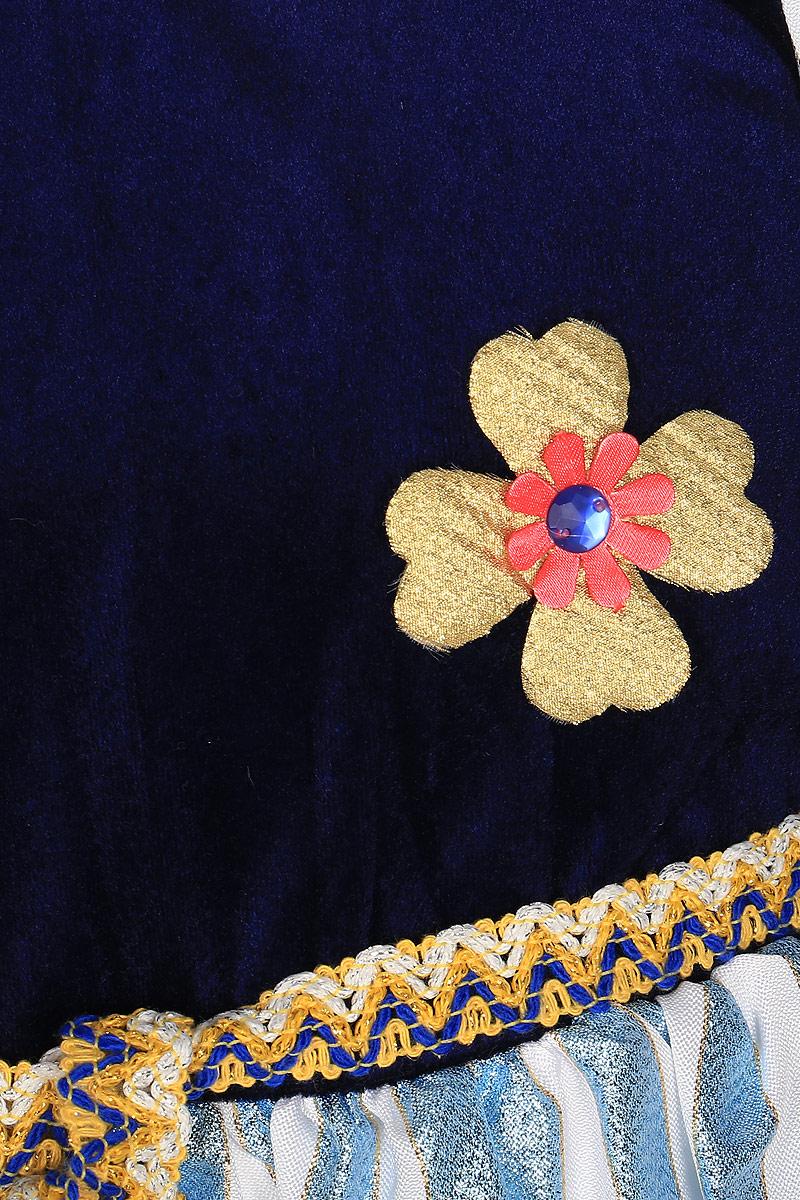 RioКарнавальный костюм для девочки Принцесса цвет синий голубой золотистый размер 30 (5-6 лет) Rio