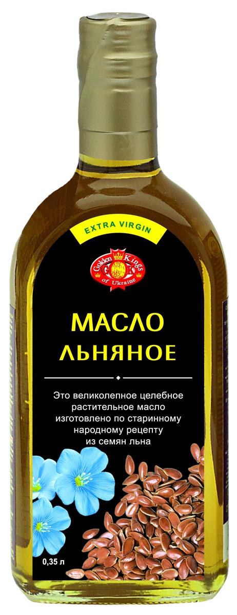 Golden Kings of Ukraine масло льняное, 350 мл320812Масло льняное нерафинированное, не дезодорированное. Льняное масло является безусловным лидером среди растительных масел. Это масло совсем не переносит длительной тепловой обработки, теряя практически все свои полезные свойства. Для жарки, варки, тушения, томления его использовать не стоит. Поэтому наиболее полезным для нашего здоровья способом применения льняного масла в кулинарии является его добавление в готовые блюда или заправка салатов.