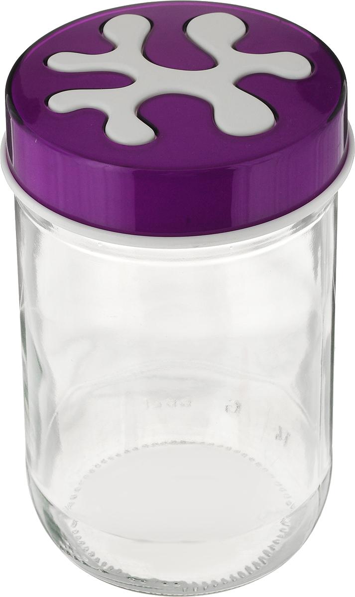 Банка для сыпучих продуктов Herevin, цвет: фиолетовый, прозрачный, 660 мл. 135367-205135367-205_прозрачный, фиолетовыйБанка для сыпучих продуктов Herevin изготовлена из прочного стекла. Прозрачные стенки позволяют видеть содержимое. Банка снабжена закручивающейся крышкой из прочного пластика. Изделие подходит для хранения разнообразных сыпучих продуктов, например, крупы, сахара, соли, чая, кофе. Банка сбережет ваши продукты от влаги, пыли и насекомых и надолго сохранит их свежими.