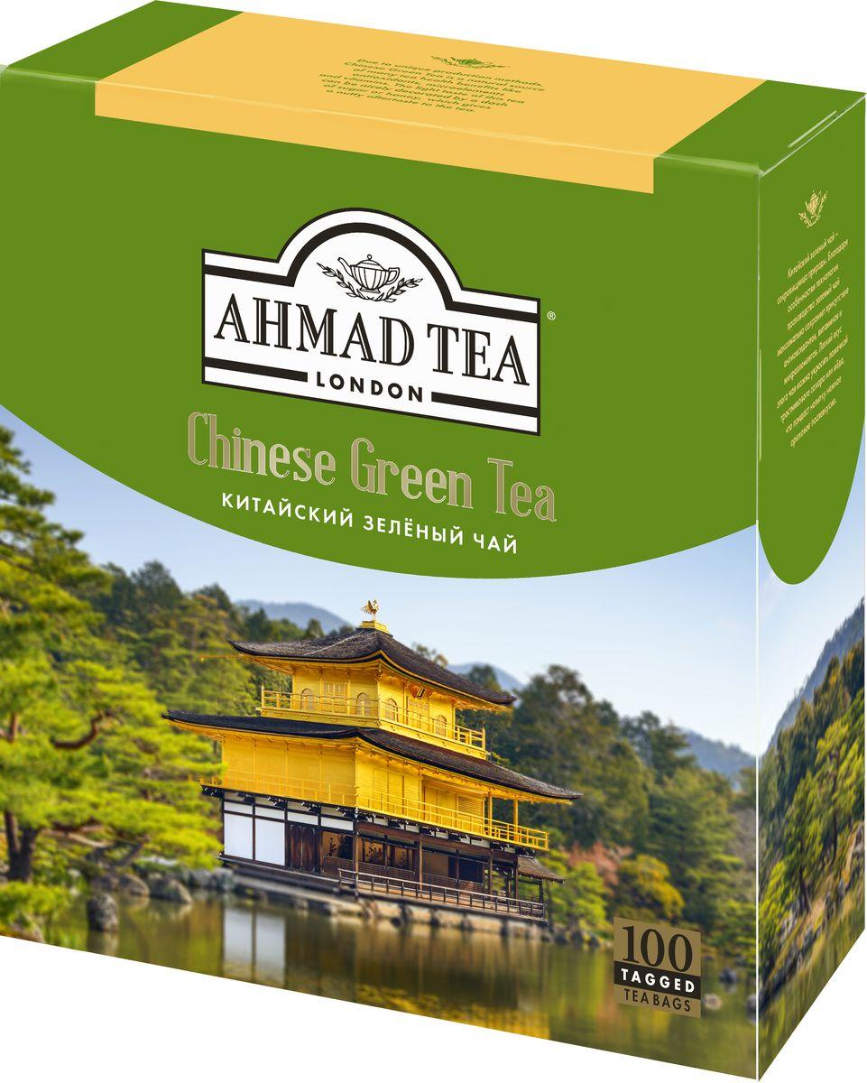 Ahmad Tea Chinese Green Tea зеленый чай в пакетиках, 100 шт1666-08Китайский зелёный чай Ahmad Tea – сокровищница природы. Благодаря особенностям технологии производства зелёный чай максимально сохраняет присутствие антиоксидантов, витаминов и микроэлементов. Лёгкий вкус этого чая можно украсить ложечкой тростникового сахара или мёдa, что придаст напитку нежное ореховое послевкусие.Заваривать 3-5 минут, температура воды 90°С.