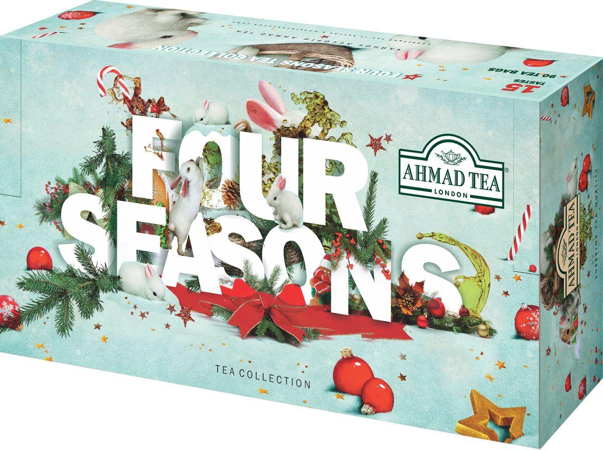 Ahmad Tea зимний подарочный набор Four Seasons 15 вкусов, 90 шт ahmad tea strawberry