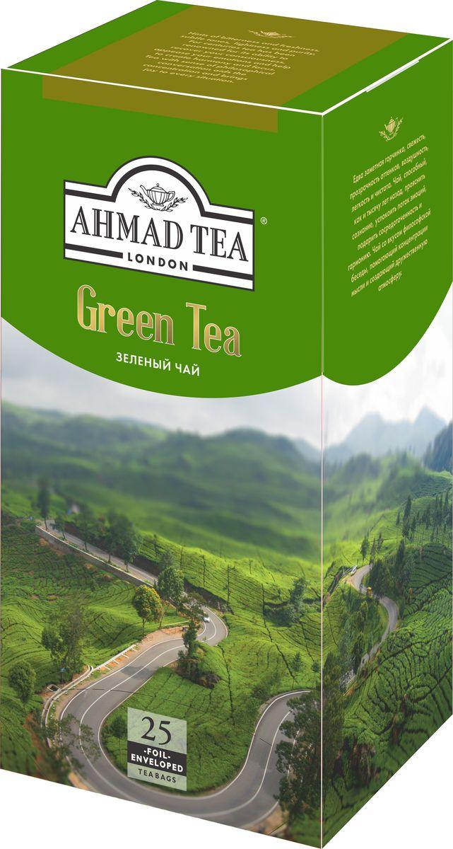 Ahmad Tea зеленый чай в пакетиках, 25 шт589i-012Едва заметная горчинка, свежесть, прозрачность оттенков, воздушность, лёгкость и чистота. Чай, способный, как и тысячу лет назад, прояснить сознание, успокоить поток эмоций, подарить сосредоточенность и гармонию. Чай со вкусом философской беседы, помогающий концентрации мысли и создающий дружественную атмосферу.Заваривать 3-5 минут, температура воды 90°С.