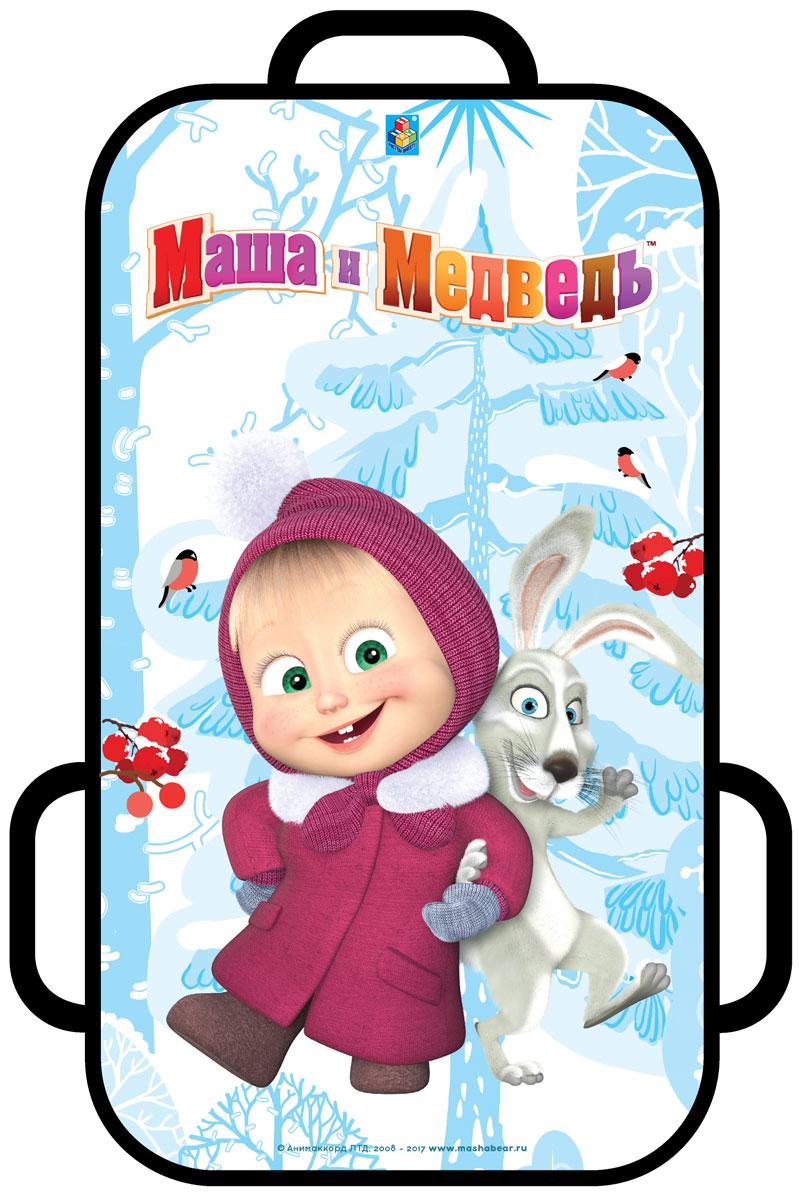 Ледянка 1Toy Маша и Медведь, цвет: голубой, 41 х 72 смТ10446Ледянка с ручками для любителей зимних спортивных развлечений с героями любимого мультфильма. Выполнена из ПВХ. Ледянка подарит много радостных моментов вашему ребенку.