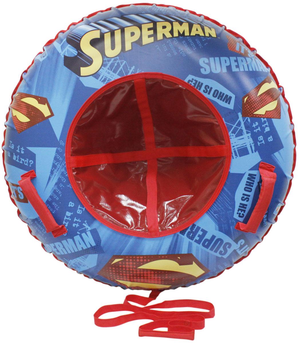Тюбинг 1TOY Супермен, цвет: красный, диаметр 85 см