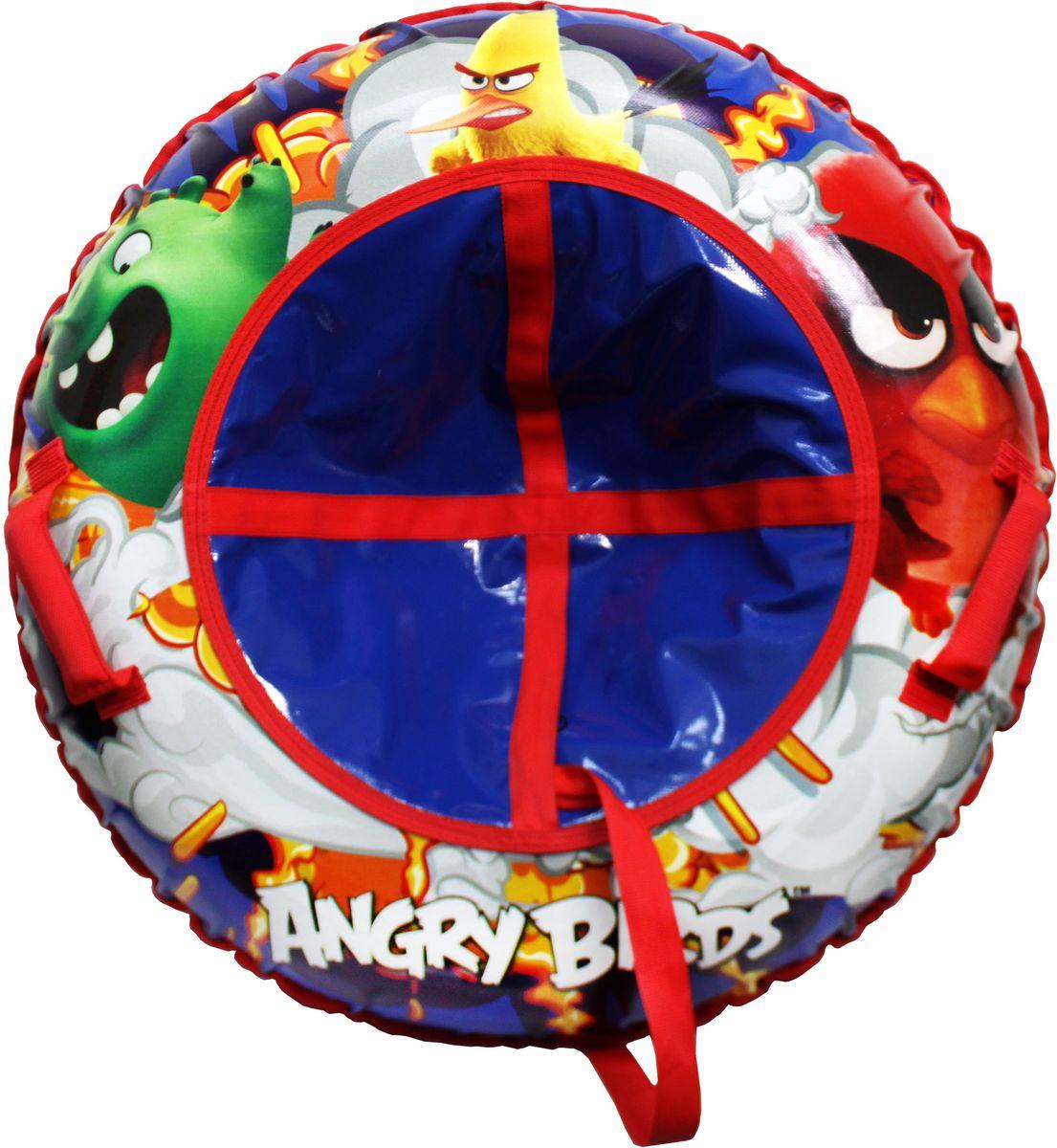 Тюбинг 1TOY Angry Birds, цвет: красный, диаметр 100 смТ59053Тюбинг - надувные сани, резиновая автокамера, материал глянцевый ПВХ, буксировочный трос. Надувные сани в последнее время стали очень популярным развлечением зимой. Специальные материалы и уникальная конструкция днища превосходно скользят, даже если снега совсем немного. Высокая прочность позволит весело проводить время детям и взрослым, не заботясь о поломках. Модель очень вместительная, возможность соскальзывания практически исключена.Зимние игры на свежем воздухе. Статья OZON Гид