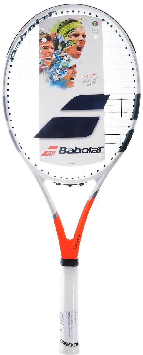 Теннисная ракетка Babolat Strike gamer, с натяжкой. Размер 3102287Теннисная ракетка Babolat Strike gamer, изготовленная из графита, имеет гибридный обод и предлагает точность и скорость. Эта ракетка идеальнадля игроков среднего уровня и игроков соревновательного уровня, которые ищут скорости и маневренности.Как и все ракетки в линейке Gamer, Strike Gamer имеет систему Woofer для повышения комфорта и ощущения.Вес: 270 г.Размер головы: 660 см 2 Баланс: 330 ммДлина: 685 мм Жесткость обода: 70 ra.