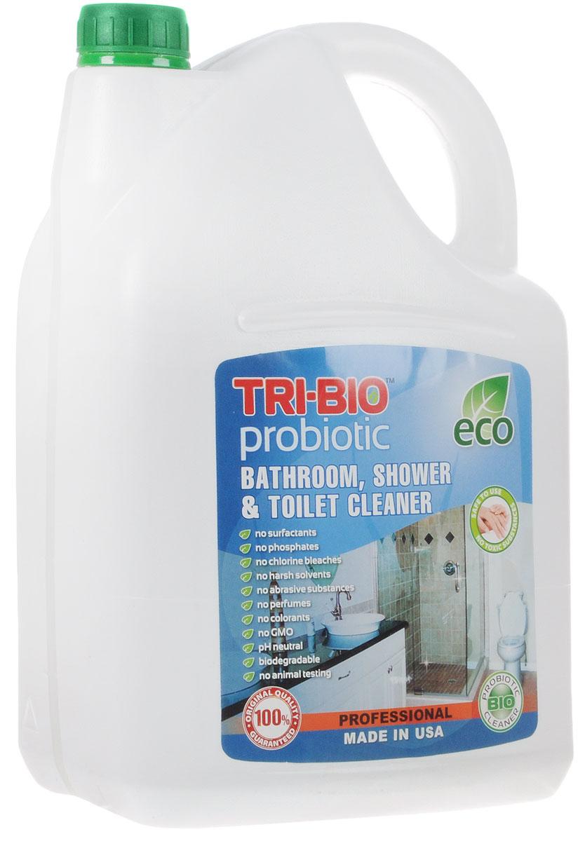 Биосредство для ванных комнат и туалетов Tri-Bio, 4,4 л0083Биосредство Tri-Bio предназначено для чистки раковин, ванн, душевых кабин, плитки, унитазов и др. Эффективно чистит керамику, фарфор, стеклопластик, а также нержавеющую сталь, не повреждая поверхность. Ликвидирует неприятные запахи, устраняя их причину. Легко проникает в швы, позволяет обеспечить более длительный контроль запаха и более глубокую чистку. Удаляет известковый налет!Особенности биосредства Tri-Bio для здоровья:Без фосфатов, без растворителей, без хлора отбеливающих веществ, без абразивных веществ, без поверхностно-активных веществ (ПАВ), без отдушек, без красителей, без токсичных веществ, нейтральный pH, гипоаллергенно. Безопасная альтернатива химическим аналогам. Присвоен сертификат ECO GREEN. Рекомендуется для людей склонных к аллергическим реакциям и страдающих астмой.Особенности биосредства Tri-Bio для окружающей среды:Низкий уровень ЛОС, легко биоразлагаемо, минимальное влияние на водные организмы, рециклируемые упаковочные материалы, не испытывалось на животных. Особо рекомендуется использовать в домах с автономной канализацией.Способ применения:Хорошо взболтайте средство. Распылите непосредственно на поверхности или на влажную губку, оставьте на несколько минут, затем потрите щеткой или губкой, смойте водой. Для более сильных загрязнений оставьте средство на поверхности на 2-5 минут. Характеристики:Объем:4,4 л. Производитель:США. Артикул:0083.