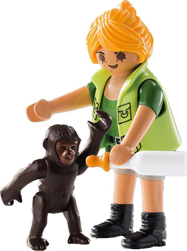 Playmobil Игровой набор Смотритель зоопарка с детенышем гориллы playmobil игровой набор африка газели