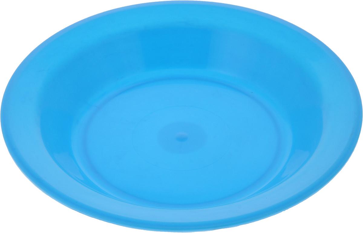Тарелка Gotoff, цвет: голубой, диаметр 21 смWTC-803_голубойТарелка Gotoff изготовлена из цветного пищевого пластика и предназначена для холодной и горячей пищи. Выдерживает температурный режим в пределах от -25°С до +110°C. Посуду из пластика можно использовать в микроволновой печи, но необходимо, чтобы нагрев не превышал максимально допустимую температуру. Удобная, легкая и практичная посуда для пикника и дачи поможет сервировать стол без хлопот!Диаметр тарелки (по верхнему краю): 21 см. Высота тарелки: 3 см.