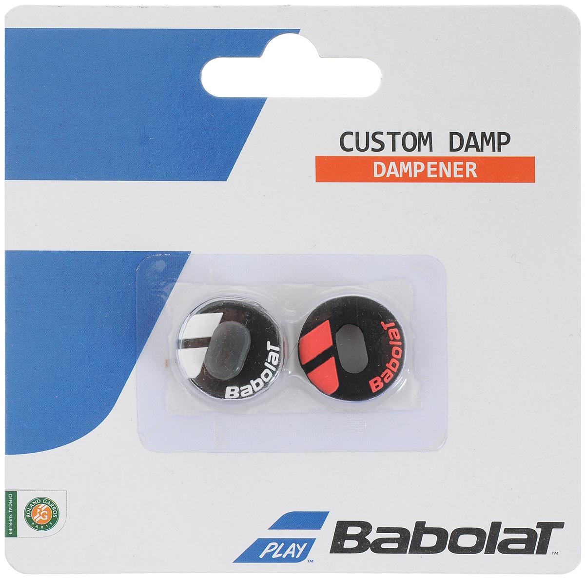 Виброгаситель BABOLAT CUSTOM DAMP х 2 (Кастом Дамп Аеро), цвет:  черный, красный Babolat