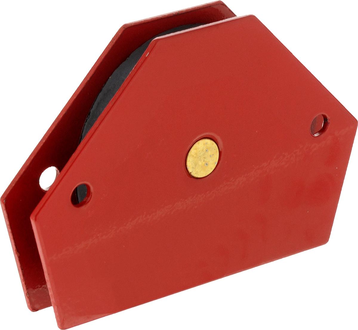 Магнитный угольник Rexant, держатель для сварки на 6 углов, усилие 11,3 кг12-4831Магнитный угольник держатель для сварки на 6 углов усилие 11,3 Кг Rexant, предназначен для фиксации металлических деталей при сварке, пайке и сборке конструкций. Применяется для работы с круглыми и прямоугольными трубами, полосами, уголками, профилями, листовым, сплошным и другими видами металла. Угольник быстро и надежно соединяет детали, сокращает время работы, облегчает монтаж и заменяет громоздкие зажимы и неудобные струбцины. Углы: 30°, 45°, 60°, 75°, 90°, 135°.Максимальное усилие — 11,3 кг (25 Lbs)