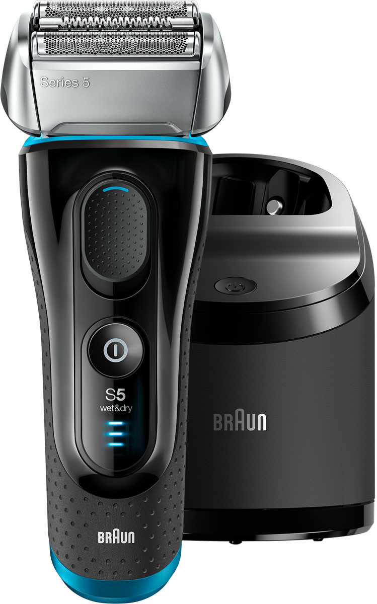 Braun Series 5 5190cc Wet&Dry, Black Blue электробритва электробритва series 3 3050 с системой clean&charge