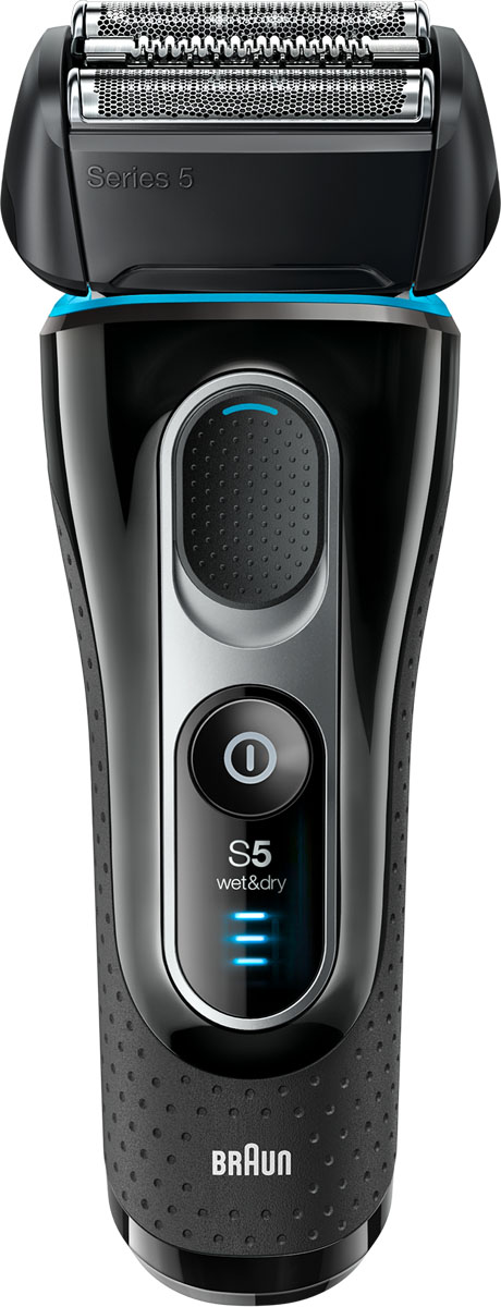 Braun Series 5 5147s Wet&Dry, Black Blue Grey электробритва электробритва series 3 3050 с системой clean&charge