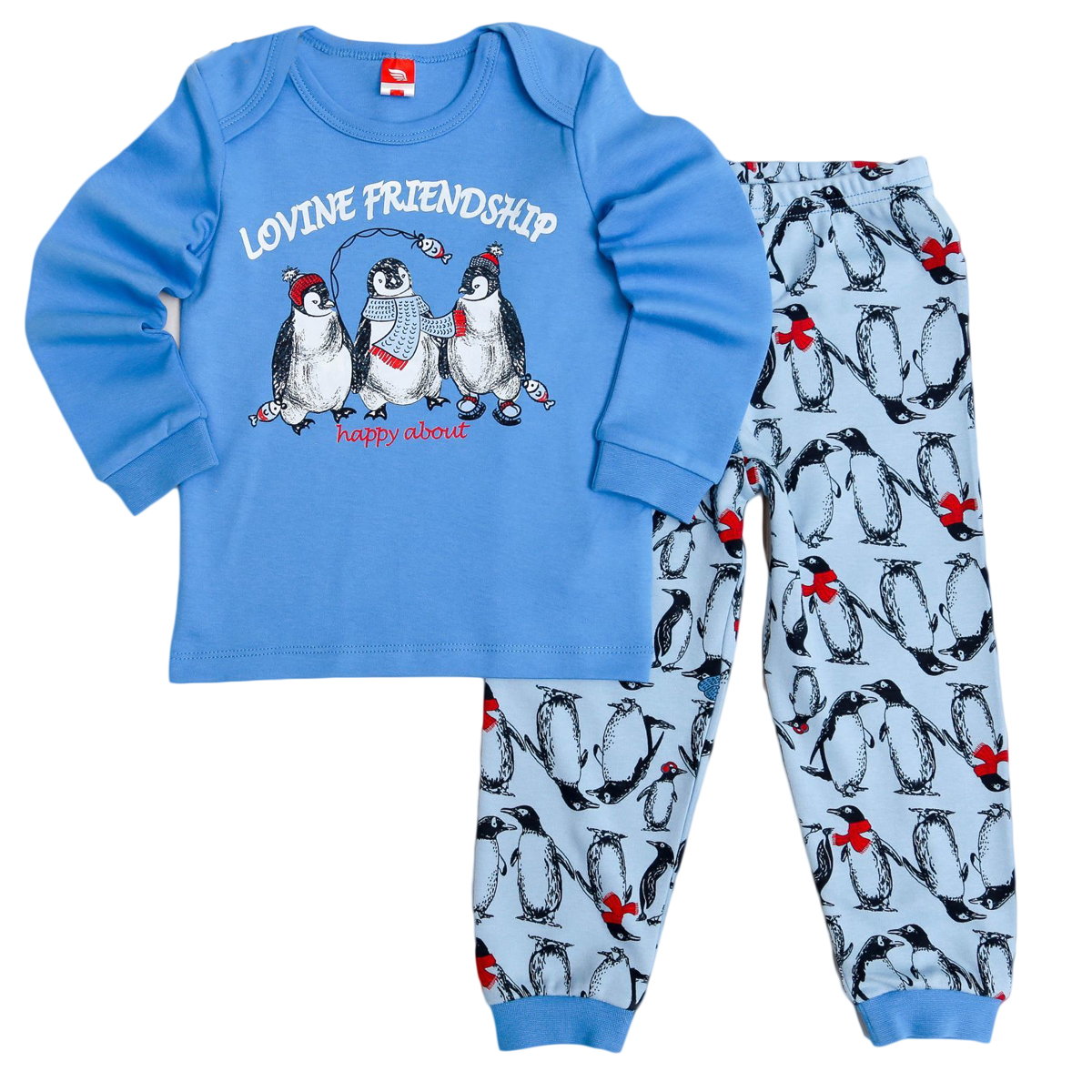 Пижама для мальчика Cherubino, цвет: голубой. CAB 5286. Размер 92
