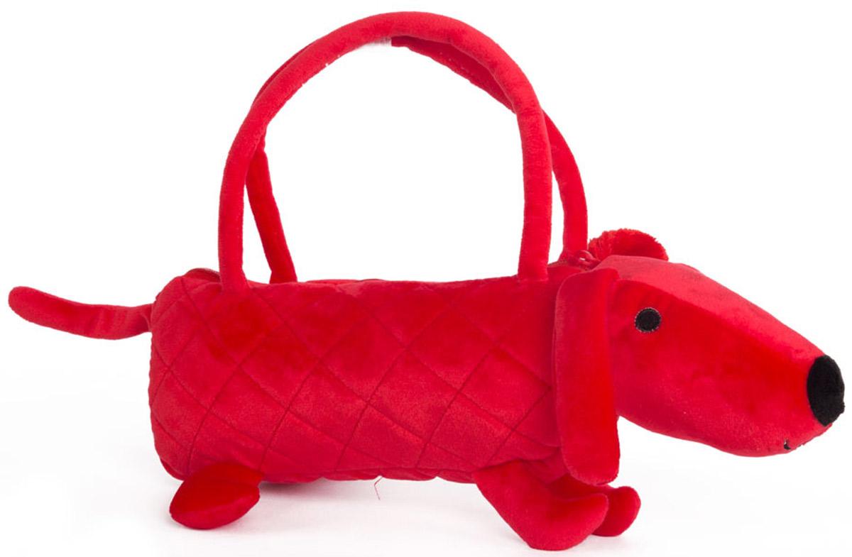 Button Blue Мягкая игрушка Собачка-сумочка цвет красный 35 см игрушки для детей