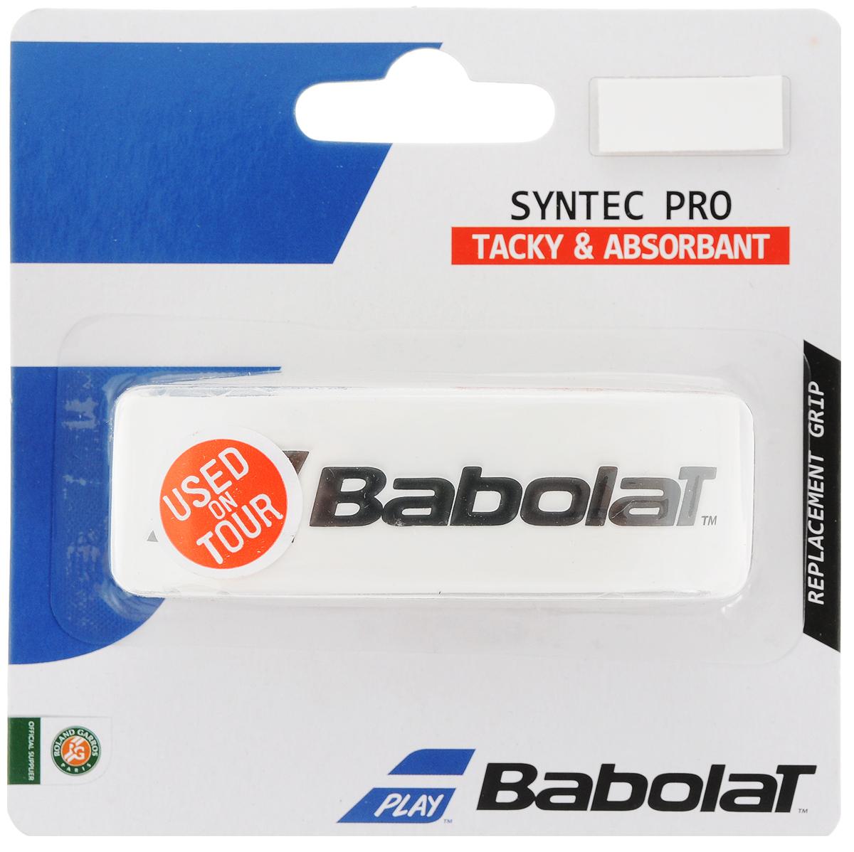Замена ручки BABOLAT SYNTEC PRO Х 1 (Синтек грип), цвет: белый670051Syntec Pro теперь на 10% тоньше, что дает больше чувства мяча.Постоянно используется командой Babolat.В блистере 1 грип.