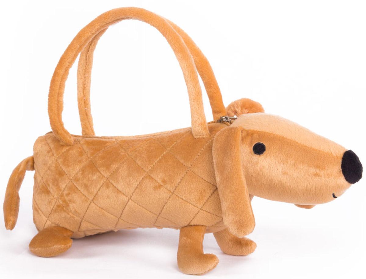 Button Blue Мягкая игрушка Собачка-сумочка цвет коричневый 35 см игрушка ecx ruckus gray blue ecx00013t1