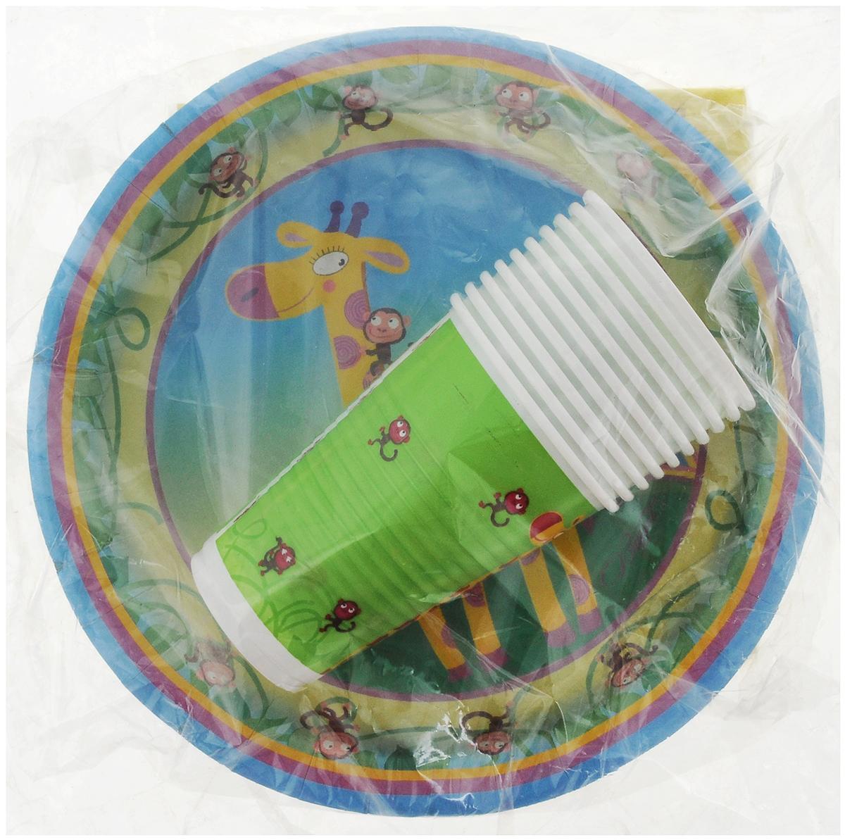 Набор одноразовой посуды Мистерия Детский, цвет: зеленый, 40 предметов187415_зеленыйНабор одноразовой посуды Мистерия Детский, цвет: зеленый, 40 предметов