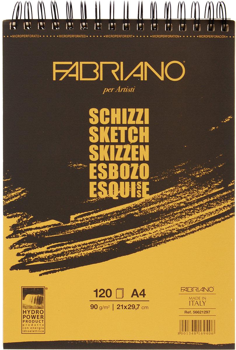 Fabriano Блокнот для зарисовок Schizzi 120 листов 5662129756621297блокноты Schizzi подходят для работы с разными сухими графическими материалами – пастелью, углем, чернографитными и цветными карандашами.Бумага для альбомов Schizzi изготавливается без добавления кислот и оптических отбеливателей и соответствует экологическим стандартам качества.