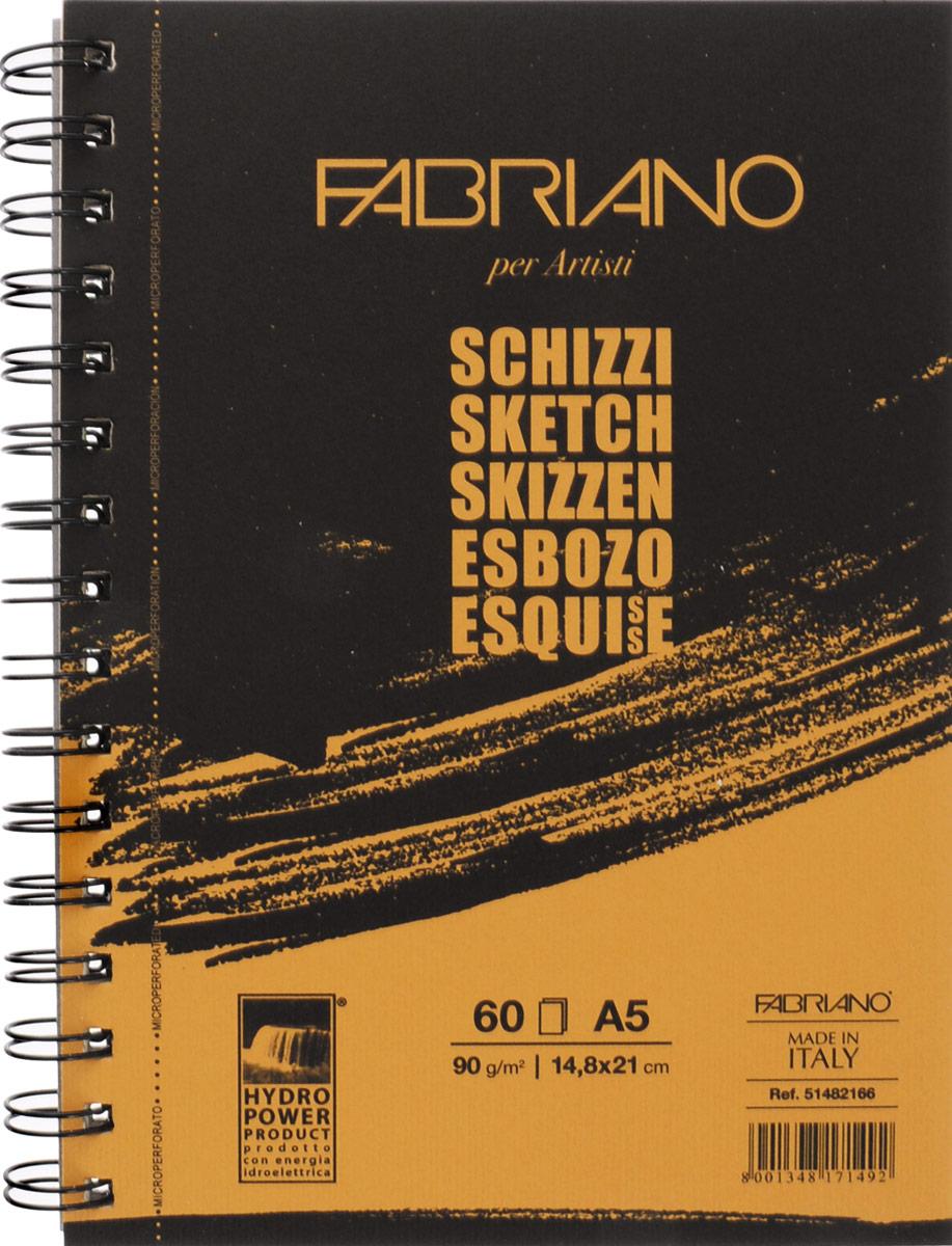 Fabriano Блокнот для зарисовок Schizzi 60 листов 5148216651482166блокноты Schizzi подходят для работы с разными сухими графическими материалами – пастелью, углем, чернографитными и цветными карандашами.Бумага для альбомов Schizzi изготавливается без добавления кислот и оптических отбеливателей и соответствует экологическим стандартам качества.