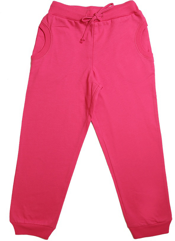 Брюки для девочки Cherubino, цвет: розовый. CSK 7446. Размер 98CSK 7446Брюки для девочки, из плотного трикотажа. Широкий пояс на резинке, по низу брючин манжеты.