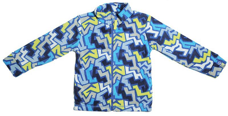 Куртка для мальчика Cherubino, цвет: голубой. CWB 61498. Размер 80CWB 61498Флисовая куртка для мальчика. Выполнена из набивного трикотажа. С воротником-стойкой, застегивается на молнию.