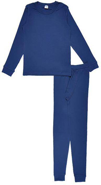 Комплект термобелья для мальчика Cherubino: футболка с длинным рукавом, кальсоны, цвет: темно-синий. CWJ 3158. Размер 146CWJ 3158Комплект хлопкового термобелья для мальчика, состоит из джемпера и кальсон.