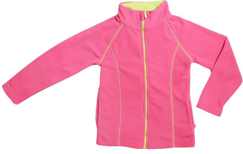 Куртка для девочки Cherubino, цвет: розовый. CWJ 61496. Размер 128CWJ 61496Куртка для девочки флисовая. Гладкокрашенная с контрастными отстрочками.