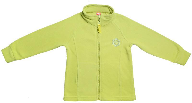 Толстовка для девочки Cherubino, цвет: зеленый. CWK 61649. Размер 116CWK 61649Толстовка для девочки выполнена из флиса. Гладкокрашенная с декоративными отстрочками. Модель с воротником-стойкой застегивается на застежку-молнию.