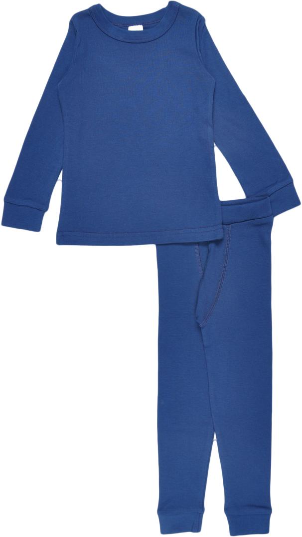 Комплект термобелья для мальчика Cherubino: футболка с длинным рукавом, кальсоны, цвет: темно-синий. CWK 3157. Размер 104CWK 3157Комплект хлопкового термобелья для мальчика, состоит из джемпера и кальсон.