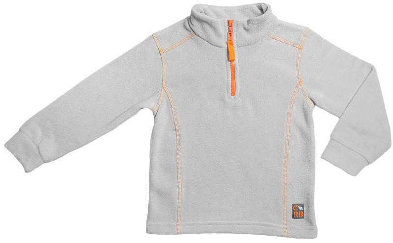 Толстовка для мальчика Cherubino, цвет: серый. CWK 61652. Размер 110CWK 61652Флисовая толстовка для мальчика, гладкокрашенная, с контрастными отстрочками. Модель с воротником-стойкой сверху застегивается на короткую молнию.