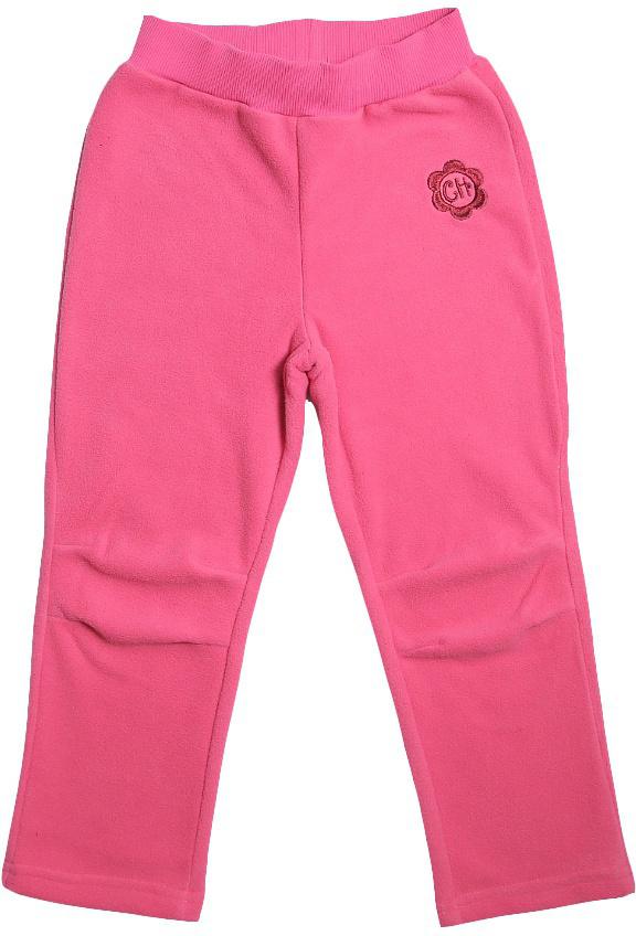 Брюки для девочки Cherubino, цвет: розовый. CWK 7596. Размер 110CWK 7596Брюки для девочки Cherubino выполнены из флиса. Модель прямого кроя с поясом на резинке.