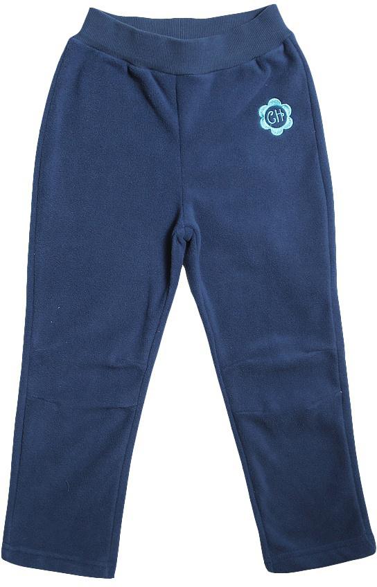 Брюки для девочки Cherubino, цвет: темно-синий. CWK 7596. Размер 122CWK 7596Флисовые брюки для девочки, гладкокрашенные, прямого кроя. Пояс на резинке.
