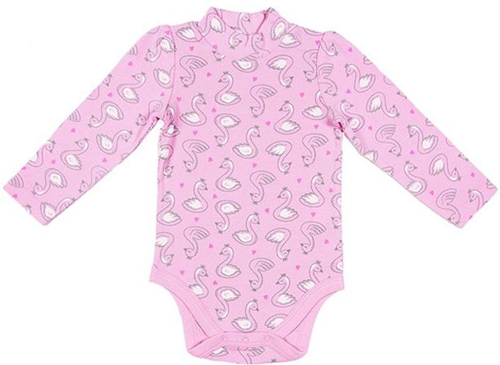 Боди для девочки Cherubino, цвет: светло-розовый. CWN 4152 (156). Размер 68CWN 4152 (156)Боди Cherubino идеально подойдет вашему ребенку в теплое или прохладное время года. Изготовленное из высококачественного материала, оно необычайно мягкое и приятное на ощупь, не сковывает движения ребенка и позволяет коже дышать, не раздражает даже самую нежную и чувствительную кожу, обеспечивая ему наибольший комфорт. Боди с длинными рукавами и воротником-стойкой застегивается на удобные застежки-кнопки на воротнике, по плечу и ластовице, которые помогают легко переодеть младенца или сменить подгузник. Оригинальный современный дизайн и модная расцветка делают это боди модным и стильным предметом детского гардероба.