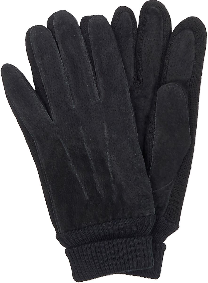 Перчатки мужские Malgrado, цвет: черный. 305WL. Размер 8,5
