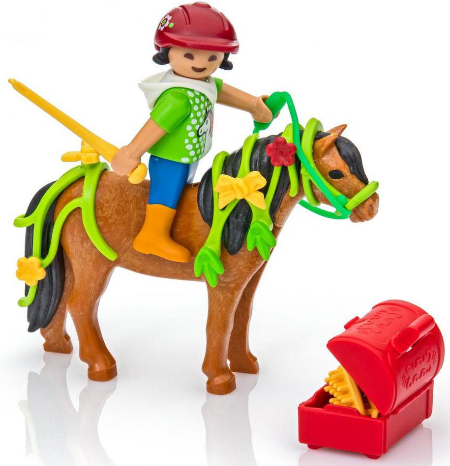 Playmobil Игровой набор Конюх с Пони Блум playmobil игровой набор девочка с морскими свинками