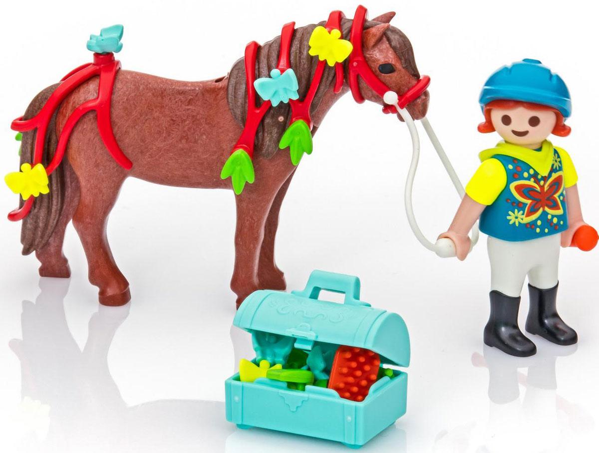 Playmobil Игровой набор Конюх с Пони Бабочка playmobil игровой набор африка газели