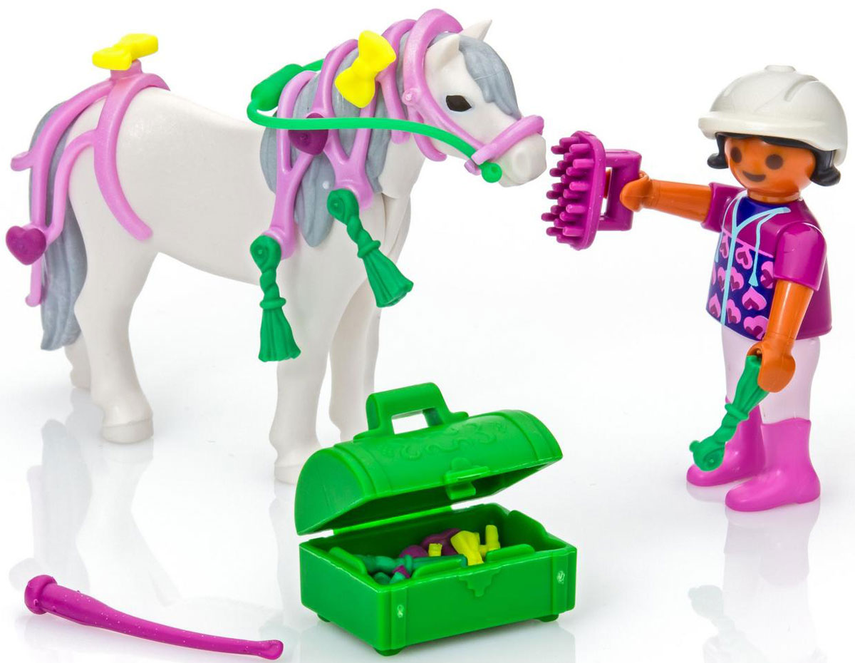 Playmobil Игровой набор Конюх с Пони Сердечко игровой набор playmobil ферма пони пикник с коневозкой