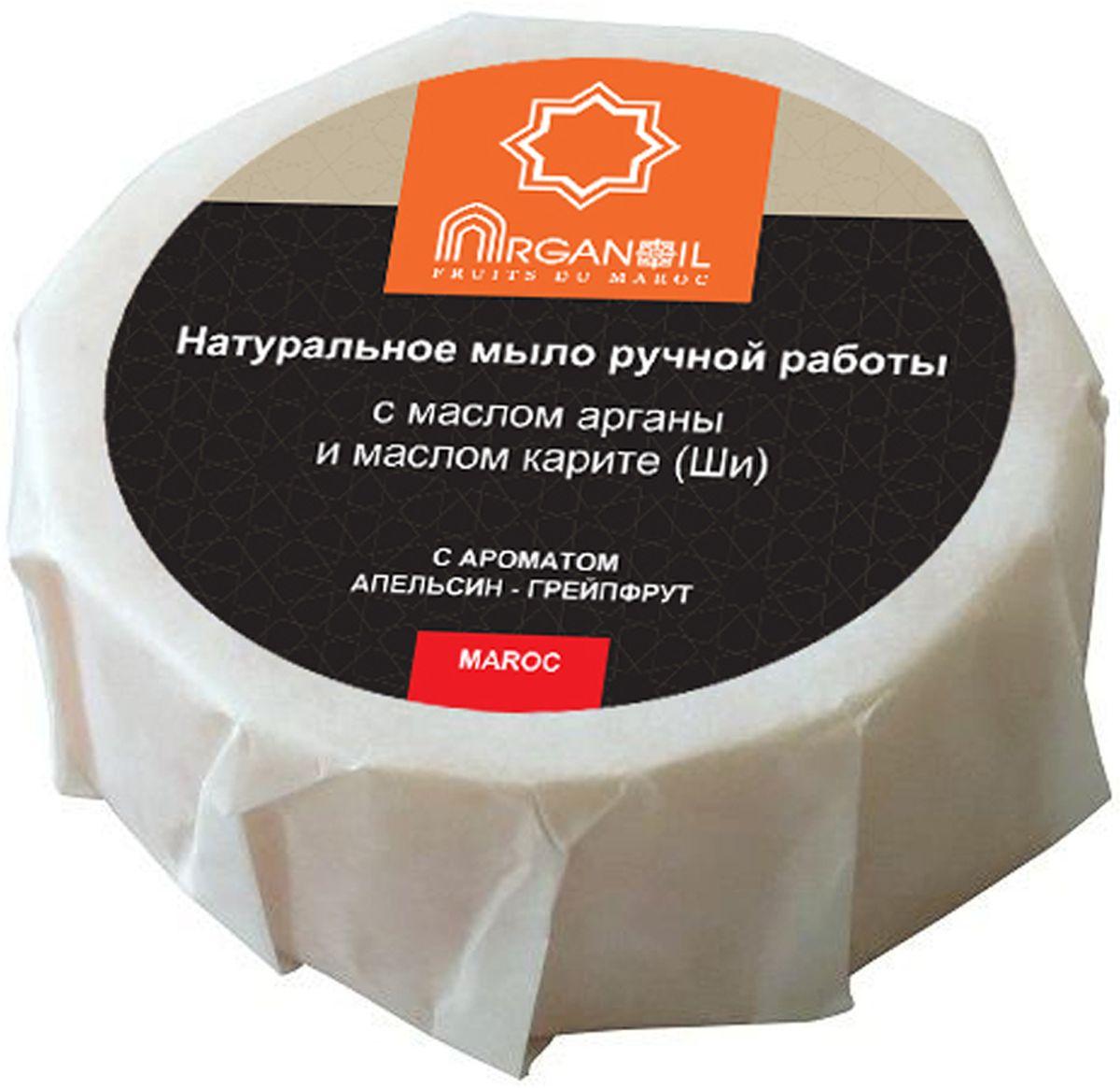 Дом Арганы Натуральное мыло ручной работы с маслом арганы и карите (ши) Arganoil с ароматом Апельсин - Грейпфрут, 100 г70827Натуральные компоненты, входящие в состав мыла, благотворно влияют на кожу, бережно очищая, смягчая ее, способствуя регенерации клеток кожи, сохраняя ее молодость и красоту. Аромат апельсина и грейпфрута тонизирует и поднимает настроение. Натуральное мыло варится исключительно вручную на высококачественных растительных маслах, изготовлено по уникальной технологии мыловарения на базе старинных марокканских рецептов. Мыло подходит обладателям нежной, сухой, чувствительной кожи.