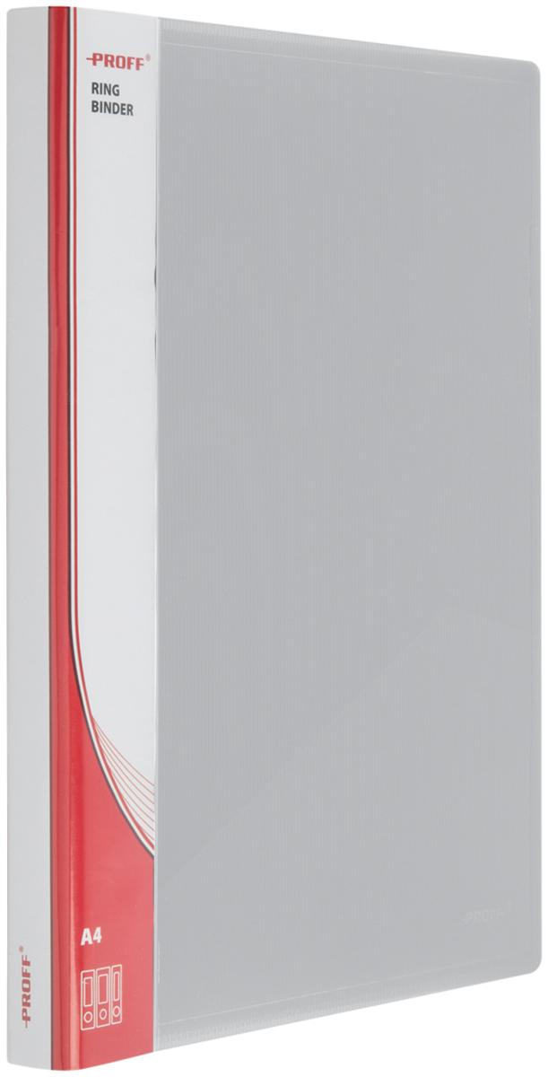 Proff Папка для бумаг Ultra на кольцах 16 мм формат A4 цвет серый03-0699Папка Proff. Ultra формата A4 на2 кольцах диаметром 16 мм и внутренним карманом, изготовленная из высококачественного полипропилена, предназначена для хранения и транспортировки рабочих бумаг и документов формата до А4.